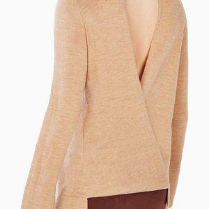 Open Back Knit Top Merino Wool Two Ways BCBG